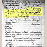 Fig. 6: Detail from the Deed of Emancipation given to David Jarbour from Zenas Kinzey. Records of the Alexandria Circuit Court, Alexandria, VA.