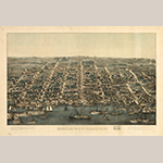 "Fig. 9: ""Bird's Eye View of Alexandria, VA,"" 1863, published by Charles Magnus, New York and Washington, DC. Library of Congress."