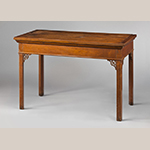 """Fig. 1. Sideboard table attributed to George Donald, 1760–1770, Henrico, Chesterfield, or Prince George counties, VA. Walnut; HOA: 31-1/4"""", WOA: 47-3/4"""", DOA: 24-1/4"""". MESDA Acc. 2023.8; Anonymous Gift."""