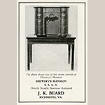 Fig. 16: Sideboard table attributed to George Donald, 1760–1775, Richmond, VA. MESDA Object Database file NN-2540.