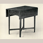"""Fig. 24: Breakfast table possibly from the shop of Thomas Arbuthnot, 1765–1780, Petersburg, VA. Walnut with yellow pine; HOA: 28"""", WOA (closed): 18-1/2"""", WOA (open): 34"""", DOA: 30-3/4"""". Private collection; Photograph by Hans Lorenz."""