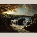 """Fig. 3: """"A View of the Great Falls of the Potomac"""" by George Beck, 1797, Philadelphia, PA. Oil on canvas, HOA: 44"""", WOA: 55-1/4"""". Collection of George Washington's Mount Vernon, Acc. W-2, Gift of Theodore Lyman Jr."""