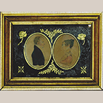 """Fig. 11: """"William S. Dallam and Letitia Meredith Dallam"""" by Samuel H. Dearborn, 1811, Lexington, KY. Watercolor on paper in original frame and églomisé mat; HOA: 10"""", WOA: 13"""". MESDA Collection, Acc. 5449.1, Loan courtesy of Mr. Clifton Anderson."""