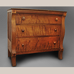 """Fig. 15: Chest of drawers attributed to Christian Burgner (possibly with the assistance of John C. Burgner), 1835–1845, Greene Co., TN. Cherry with tulip poplar; HOA: 39"""", WOA: 43-1/4"""", DOA: 20-3/4"""". Private collection, MESDA Object Database file D-32544."""