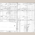 Fig. 38: Pages 97-98 of the John C. Burgner Ledger Book, showing the sale of Morus Multicaulis buds. Note the sketch of a mulberry tree in bloom. Photocopy of the original. Collection of the Haywood County Historical & Genealogical Society, Waynesville, NC; photocopy held by the Anne P. and Thomas A. Gray Library, Call No. TT 197 B8, Old Salem Museums & Gardens, Winston-Salem, NC.