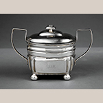 "Fig. 9: Sugar Bowl marked by Asa Blanchard, 1810-1820, Lexington, KY. Silver; HOA: 6-1/4"". Private Collection, Photograph courtesy of Neal Auctions, New Orleans, LA."