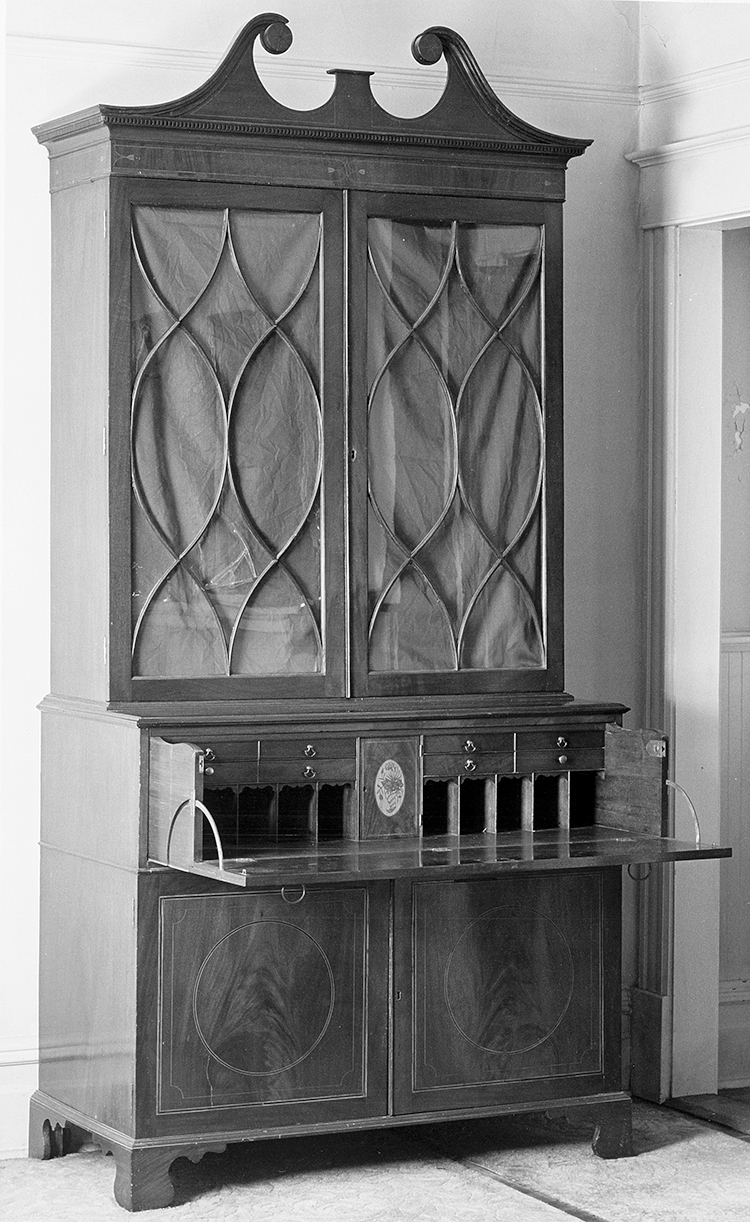 Fig 37 Secretary Bookcase Attributed To The John Gros C 1798