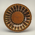 """Fig. 6: Lead-glazed, slip-decorated earthenware bowl, 1800–1820, Hagerstown, MD. HOA: 3"""", DIA: 12-3/4"""". Museum of Early Southern Decorative Arts, Wiliam C. and Susan S. Mariner Collection, Acc. 5813.18."""