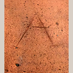 """Fig. 13: Detail of the incised """"A"""" on the crock in Fig. 7 (inverted here to read correctly)."""