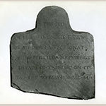 Fig. 6: Grave marker of Priscilla Hemings carved by John Hemmings, 1831, Monticello, Charlottesville, VA. Collection of Monticello and the Thomas Jefferson Foundation.