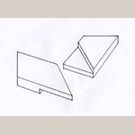 Fig. 16: Mitered half-lap joint. Drawing by the author.