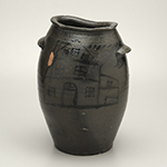 """Fig. 5: Jar attributed to Lewis Gardner (ca.1778–1850); Loudoun County, VA; 1820-1830. Stoneware, salt-glazed; HOA: dimensions HOA: 13 1/2"""", WOA: 9"""". MESDA, The William C. and Susan S. Mariner Collection, Acc. 5813.30. Photograph by Dan Routh."""