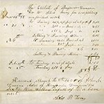 Fig. 13: Invoice from Silas Terry to Benjamin Duncan, 1858, probate records of Benjamin Duncan, Marion Co., MO. Photograph by Gary L. Maize.