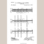 """Fig. 22: """"Fence Post"""" illustration, S. C. Pitney and G. M. Gardner, from U.S. Patent 532,246, filed 27 June 1894 and issued 8 January 1895, United States Patent and Trademark Office, Alexandria, VA. Available online https://patentimages.storage.googleapis.com/be/16/cd/72e5f7c8d4f71c/US532246.pdf (accessed 28 July 2018)."""