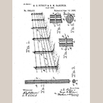 """Fig. 23: """"Clay Post"""" illustration, S. C. Pitney and G. M. Gardner, from U.S. Patent 558,418, filed 14 October 1895 and issued 14 April 1896, United States Patent and Trademark Office, Alexandria, VA. Available online https://patents.google.com/patent/US558418 (accessed 28 July 2018)."""