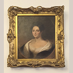Fig. 9: Jane Gay Robertson Bernard (1795–1852) by Thomas Sully (1783–1872), 1852, Baltimore, MD. Copy of an 1818 portrait by John Vanderlyn (1775–1852). Oil on canvas. Collection of Swem Library, College of William & Mary; Gift of the estate of Frances Lightfoot Robb.