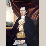 "Fig. 22: ""Peter Lauck"" by Charles Peale Polk, 1799. Oil on canvas; HOA: 36"", WOA: 27"". Private collection; MESDA Object Database file S-5460."