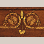 Fig. 38: Detail of cornice inlay on the corner cupboard illustrated in Fig. 6.