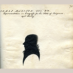 Fig. 55: James Madison silhouette by Joseph Sansom, 1790–1800. Collection of The Winterthur Library: Joseph Downs Collection of Manuscripts and Printed Ephemera, Document 52, Vol. 1, Winterthur Museum, Garden & Library, Winterthur, DE.
