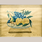 "Fig. 9. Theorem by Mary Henly. (1829–1887), 1848, Jonesborough Female Academy, Washington Co., TN. Watercolor, pen and ink on paper. HOA: 11-1/4"", WOA: 13-1/4"". Collection of the Tennessee State Museum, Nashville, TN; Tennessee Sampler Survey file TSS 202, online: https://www.tennesseesamplers.com/viewsampler.php?samp_id=202 (accessed 2 June 2019)."