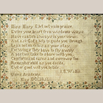 "Fig. 14. Sampler by Isabella S. Wallis Slate (born cira 1822–died between 1870 and 1900), 1851, Union Academy, Franklin, Williamson Co., TN. Silk on perforated paper; HOA: 7-1/4"", WOA: 9 3/4"". Private collection; Tennessee Sampler Survey file TSS 018, online: https://www.tennesseesamplers.com/viewsampler.php?samp_id=018 (accessed 2 June 2019)."
