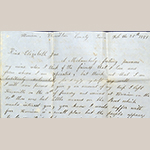 Fig. 16. Letter from Lemira Watts Yarnell to Elizabeth Jane Armstrong, 25 February 1851, Harrison, Hamilton Co., TN. Collection of the United Daughters of the Confederacy, Chapter 89, Knoxville, TN