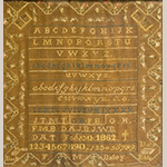 "Fig. 19. Sampler by Frances (Fanny) Matilda Batey, (1842–1926), 1862, Franklin College, Nashville, Davidson Co., TN or LaVergne, Rutherford Co., TN. Silk and wool on linen; HOA: 19"", WOA: 17-1/2"". Private collection; Tennessee Sampler Survey file TSS 071, online: https://www.tennesseesamplers.com/viewsampler.php?samp_id=071 (accessed 2 June 2019)."