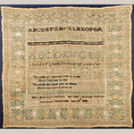 "Fig. 20. Sampler by Ellen Mordant Oldham (1819–1907), 1833, Marble Hill Female Academy, Davidson Co. or Williamson Co., TN. Silk on linen; HOA: 16"", WOA: 17"". Private collection; Tennessee Sampler Survey file TSS 190, online: https://www.tennesseesamplers.com/viewsampler.php?samp_id=190 (accessed 2 June 2019)."