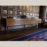 "Fig. 18: Single-leaf dining table, circa 1850, Glamis Castle, Angus, Scotland. Oak; HOA: 30"", WOA: 126"", DOA: 20"" (closed), 35"" (open). Collection of Glamis Castle, Angus, Scotland, photograph by kind permission of the Earl of Strathmore & Kinghorne."