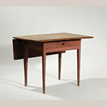 "Fig. 28: Single-leaf kitchen table 1800–1825, discovered in New England. Pine with paint; WOA: 37"". Private collection, photograph courtesy William A. Smith Inc., Plainfield, New Hampshire."