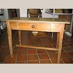 "Fig. 29: Kitchen table, ca. 1950-1960, Scotland. Fir; HOA: 28-1/6"", WOA: 41-3/4"", DOA: 27-1/2"". Collection of the Fife Folk Museum, Cupar, Scotland, photograph courtesy David Jones."