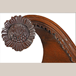 Fig. 18: Detail of carved rosettes on the secretary wardrobe illustrated in Fig. 1. Photograph courtesy of Brunk Auctions, Asheville, NC.