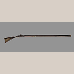Fig. 29: Rifle made by Thomas Simpson for Gasper Mansker, 1791, Sumner Co., TN. Maple, iron, steel, brass, and silver. Hankla Collection; on loan to MESDA, Acc. 5885.4.
