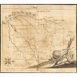 "Fig. 1: ""Wachovia,"" surveyed and drawn by Andreas Höger, 1754. Ink on paper; HOA: 18"", WOA: 20-1/8"". Old Salem Museums & Gardens, Wachovia Historical Society Collection, Acc. P-339; available online: https://www.oldsalem.org/item/collections/map-of-wachovia/10316/ (accessed 21 November 2019)."