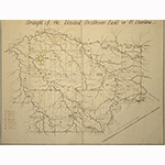 "Fig. 6: ""Draught of the United Brethren's Land in N. Carolina,"" unknown artist, after maps surveyed and drawn by Andreas Höger, 1754–1755. Ink on paper; HOA: 22-2/3"", WOA: 18-1/2"". Moravian Archives, Herrnhut, Germany, Bd.2.27.a; available online: https://www.unitaetsarchiv.findbuch.net/php/main.php?be_kurz=5453&ve_vnum=15#5453x15 (accessed 21 November 2019)."