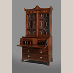 "Fig. 13: Secretary bookcase by William Little, 1805-1810, Sneedsboro, NC. Mahogany with yellow pine and tulip poplar; HOA: 94"", WOA: 46"", DOA: 21-3/4. MESDA Acc. 3264, Gift of Mr. and Mrs. James W. Douglas."