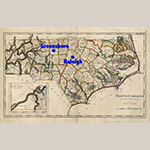 "Fig. 2: ""Map of North Carolina from the Latest Surveys"" by Samuel Lewis (1753/4–1822) and Mathew Carey (1760–1839), published in ""Carey's General Atlas,"" 1818, Philadelphia, PA. Ink on paper; WOA:18-1/2"", HOA: 11"". Collection of the State Archives of North Carolina, Department of Cultural Resources, call number MC.150.1818l;MARS Id: 3.3.285."
