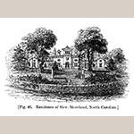 "Fig. 8: ""Residence of Gov. Morehead, North-Carolina"" drawn by Alexander Jackson Davis (1803–1892), woodcut engraving by Alexander Anderson. Ink on paper; HOA: 3-1/4""; HOA: 2"". Published in A.J. Downing, ""A Treatise on the Theory and Practice of Landscape Gardening"" (New York and London: Wiley & Putnam, 1844)."