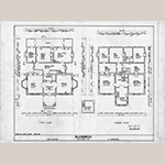 "Fig. 4: ""Floor plans,"" Blandwood, Greensboro, NC, drawn by D. Kay and A. Sykes, 1975, Project Records (UA110.041), Digital Collections: Rare and Unique Materials Historic Architecture Research, Special Collections Research Center, North Carolina State University Libraries, Raleigh, NC"