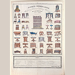 "Fig. 22: Broadside for Joseph Meeks & Sons, 1833, New York, NY. Hand-colored lithograph; HOA: 25-3/4"", WOA: 18-3/8"". Collection of the Metropolitan Museum of Art, Acc. 43.15.8; Gift of Mrs. R. W. Hyde, transferred from the Library, 1943."
