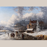 "Fig. 29: ""Snow Scene"" by William C. A. Frerichs (1829–1905), 1861, Greensboro, NC. Oil on canvas; HOA:30 1/8""; WOA: 42 1/8"". Collection of Preservation Greensboro, Acc. 1978.023.001; Gift of Mrs. Robert Cluett; Photograph by VanderVeen."