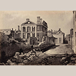 Fig. 21: Ruins of the Charles Pinckney Mansion (constructed 1745–1750), photographed by George N. Barnard, 1862–1865. Collection of the U.S. National Archives and Records Administration, 165-SC-59.