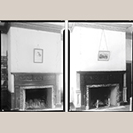 Fig. 3: White Hall Dining Room (left) and Drawing Room (right) from Thomas T. Waterman's HABS Survey in 1939. The Drawing Room is now installed at MESDA. Note the difference in the cornice and the details on the mantels. Library of Congress.