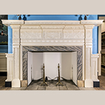 Fig. 6: White Hall mantel. Photo by Daniel Ackermann.