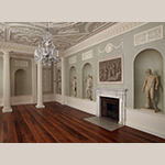 Fig. 10: Lansdowne House, 1766-1769, London, England. Designed by Robert Adam, this interior is an excellent example of the Neoclassical style. Metropolitan Museum of Art.