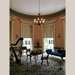 Fig. 11: Drawing Room of the Nathaniel Russell House, 1808, Charleston, SC. This interior showcases the Neoclassical style in America. Photo by the author.