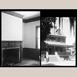 Fig. 15: Ophir Plantation built in 1810 by Thomas Porcher (1766-1835) and likely enslaved carpenters Jacky, Cyrus, and Old Dick. Left photo is the southeast Parlor Room with a mantel very similar to the White Hall dining room. Thomas T. Waterman, HABS Survey 1939. Library of Congress.