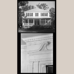 Fig. 16: The Rocks Plantation, built in 1805 by Peter Gaillard (1757-1833) with white carpenters Mr. Bowles and Mr. Walker, who convinced Gaillard to import chimney pieces from the North; however, the installation and the other moldings like the cornice were probably completed by local enslaved carpenters. Library of Congress.