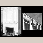 Fig. 18: Springfield Plantation, built in 1818 by Joseph Palmer with northern carpenter George Champlin and hired-out enslaved carpenters of Samuel Porcher. Exterior detail and mantel. Thomas T. Waterman, HABS Survey, 1939. Library of Congress.