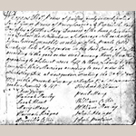 Fig. 1: Marriage Certificate of Thomas Pierce and Hepzibeth Macy, 30 August 1775, New Garden Monthly Meeting Marriage Records, Friends Historical Collection, Guilford College, Greensboro, NC.